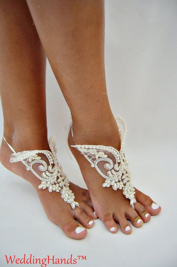 Footless wedding shoes Footless wedding barefoots by WeddingHands
