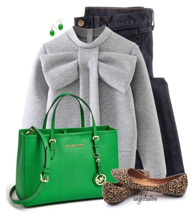 """""""Cute and Comfy"""" by angkclaxton ❤ liked on Polyvore featuring J.Crew, WithChic and MICHAEL Michael Kors"""