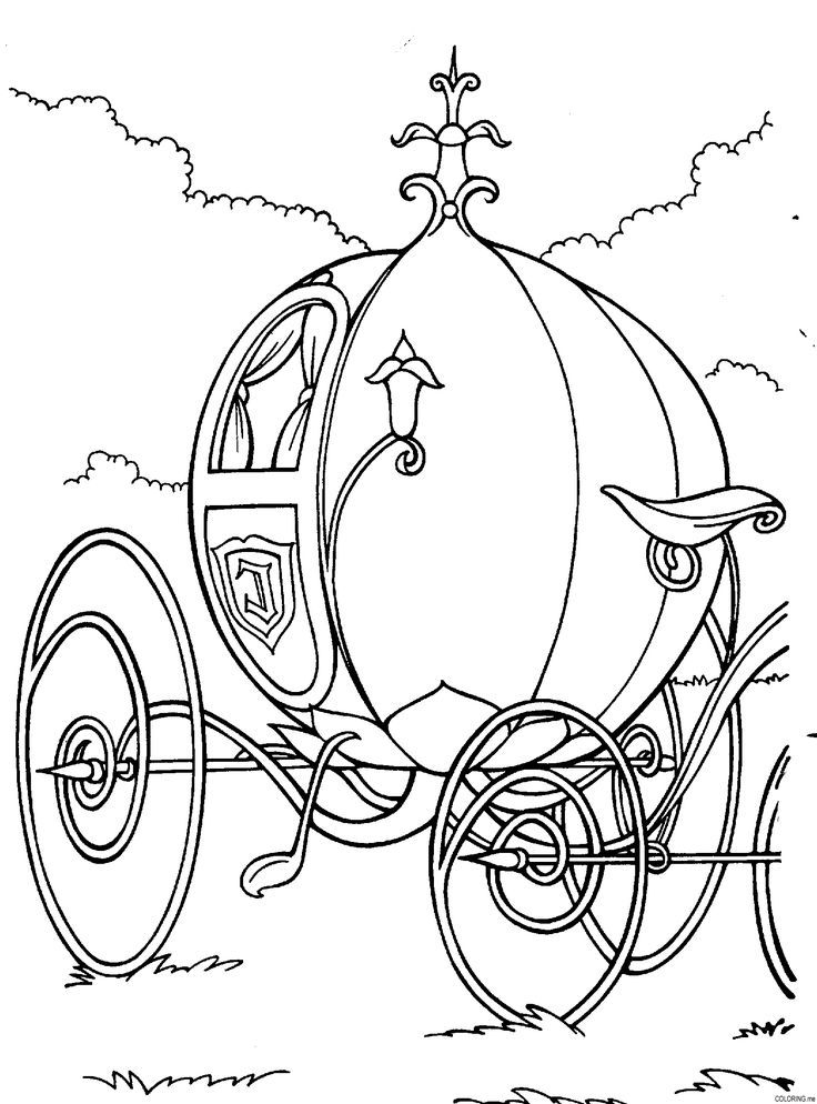 Coloring page Cinderella the