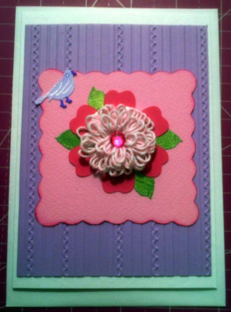 Bakers Twine Flower Card