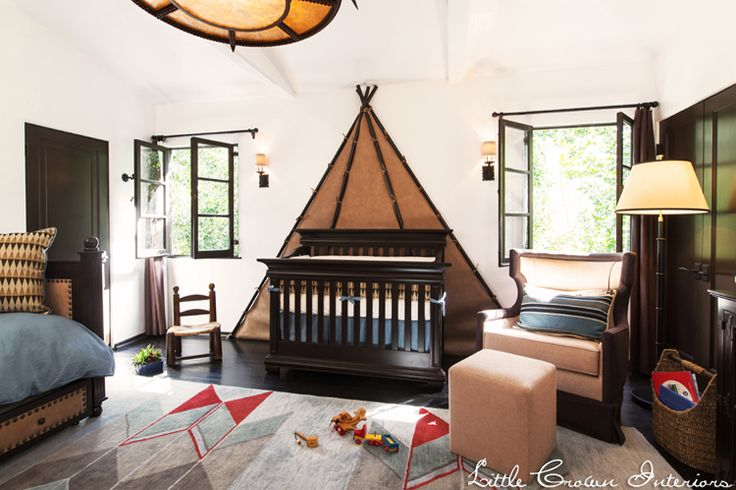 Cowboy-Theme-Boy's-Nursery-Design by Little Crown Interiors. #nurserydesign