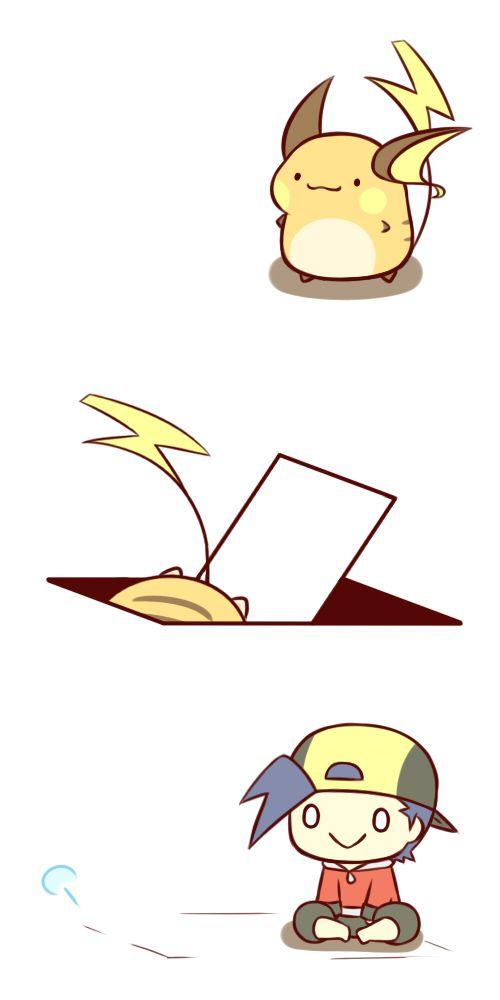 Tags: Anime, Fanart, Pokémon, Pixiv, Gold (Pokémon), raichu
