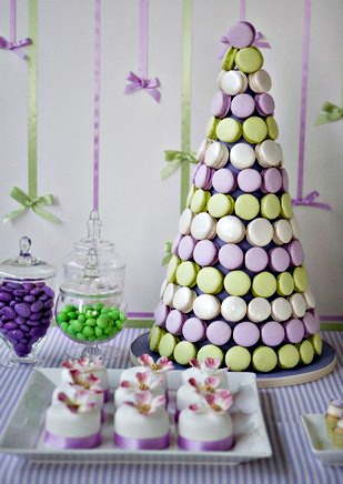 Macaron tower - going to have something like this instead of a birthday cake this year :)