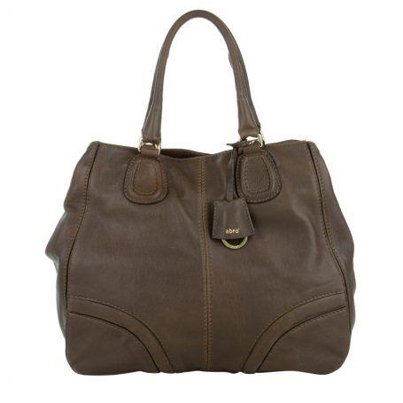 Abro Tasche – Mokka Tote Leather Handbag Oxblood – in braun – Henkeltasche für Damen