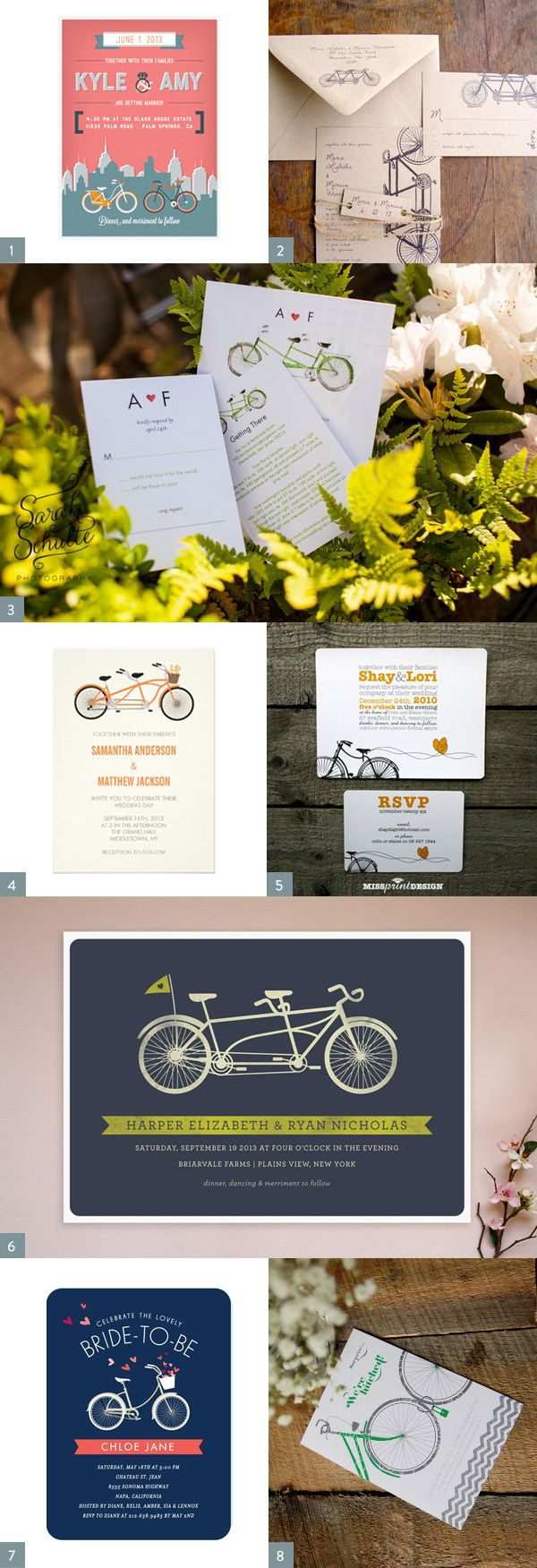 invitation letter for us vissample wedding%0A Bicycle Wedding Invitation Inspiration  Adorable