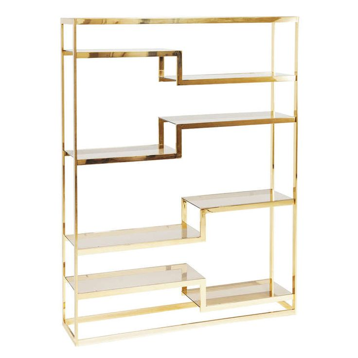 Freestanding Italian Roomdivider / Bookshelf In Brass | From a unique collection of antique and modern bookcases at http://www.1stdibs.com/furniture/storage-case-pieces/bookcases/