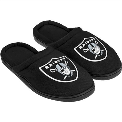 Oakland Raiders Men's Cupped Sole Slippers
