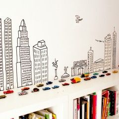 Vivo aquí http://www.chispum.com/vinilo-ciudades-vivo-aqui. Love this website - lots of great stickers/decals for kids