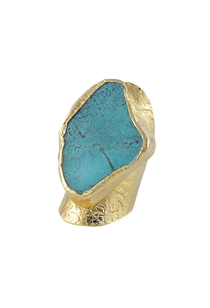 Ring vergoldet mit Türkis