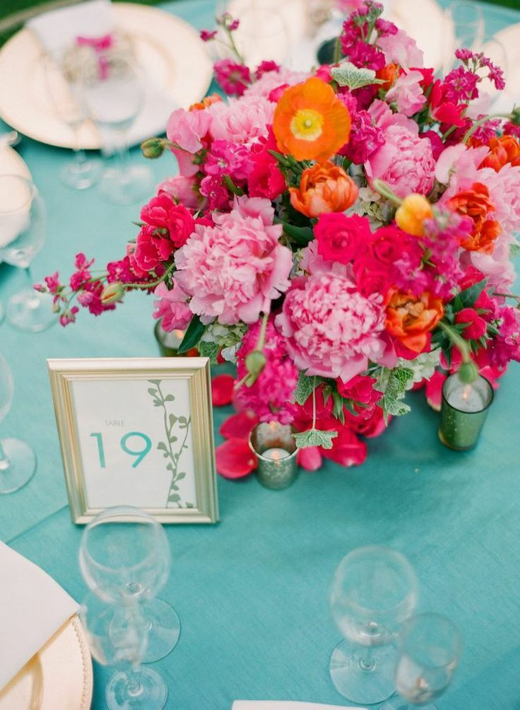 Best hot pink centerpieces ideas on pinterest