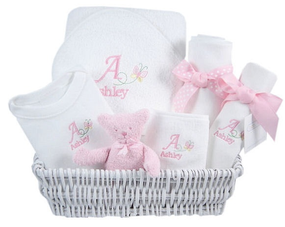 The 52 best images about personalized baby gifts on pinterest baby butterfly personalized luxury layette basket babygifts negle Images