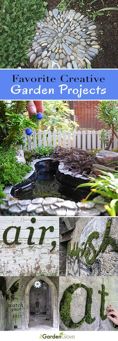 Favorite Creative Garden Projects • Check out some of TGG's favorite and most creative garden ideas & tutorials!