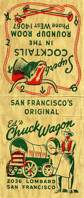 Ed's Chuckwagon #matchbook To order your business' own branded #matchbooks or #matchboxes GoTo: GetMatches.com or CALL 800.605.7331 Today!