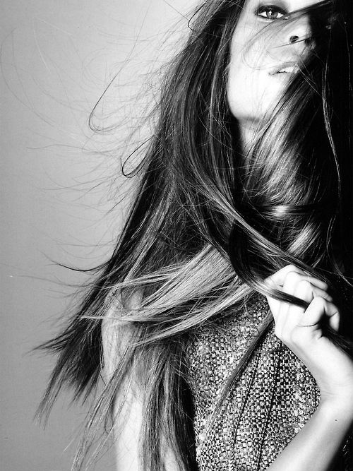 : Hair Beautiful, Pinterest Com Fra411 Beautiful, Inspiration Hair, Straight Hair, Femme Beautiful, Hair Makeup, Black White, Portraits Photography, Pinterestcomfra411 Beautiful