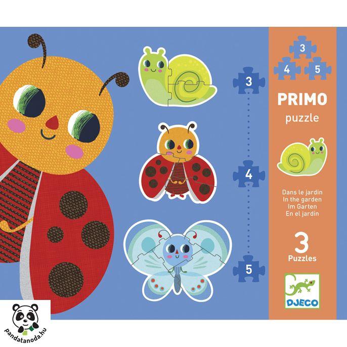 A kertben 3-4-5 darabos kirakó (Primo Puzzle Djeco) | Pandatanoda.hu Játék webáruház