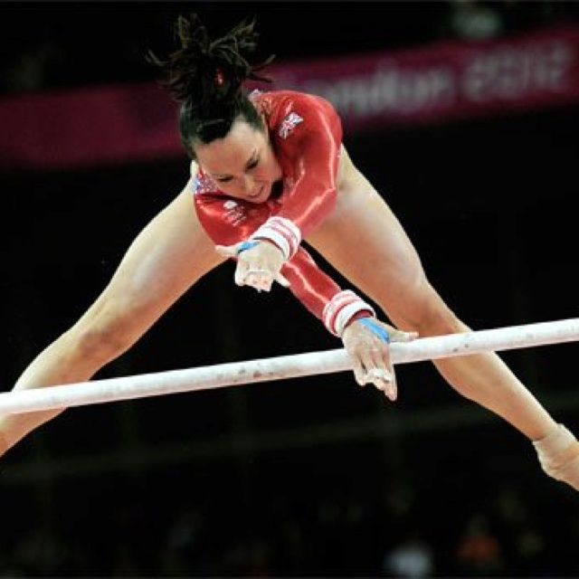 Beth Tweddle - bronze medal in the Women's Asymmetric Bars, London 2012. Go Team GB!