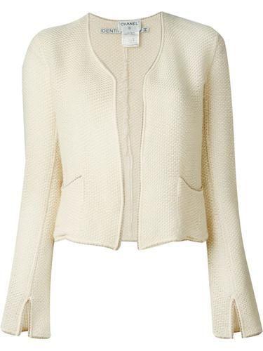 CHANEL VINTAGE woven jacket #jacket #chanel #designer #covetme #chanelvintage
