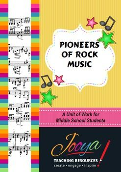 This resource is designed for Music students in the Middle School. The unit includes lessons on The Roots of Rock n Roll, The Blues, Development of Rock n Roll, Fats Domino, Bill Haley and the Comets, Buddy Holly and Elvis Presley. Each lesson includes reading strategies from the Super Six Making Connections, Predicting, Questioning, Monitoring, Visualising and Summarising.