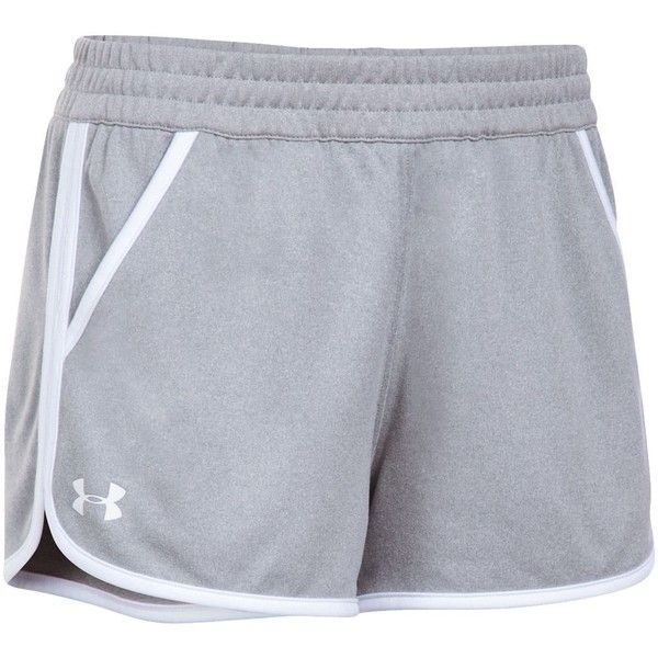 Women's Under Armour Tech 2.0 Shorts (£23) ❤ liked on Polyvore featuring activewear, activewear shorts, dark grey, athletic sportswear, under armour and under armour sportswear