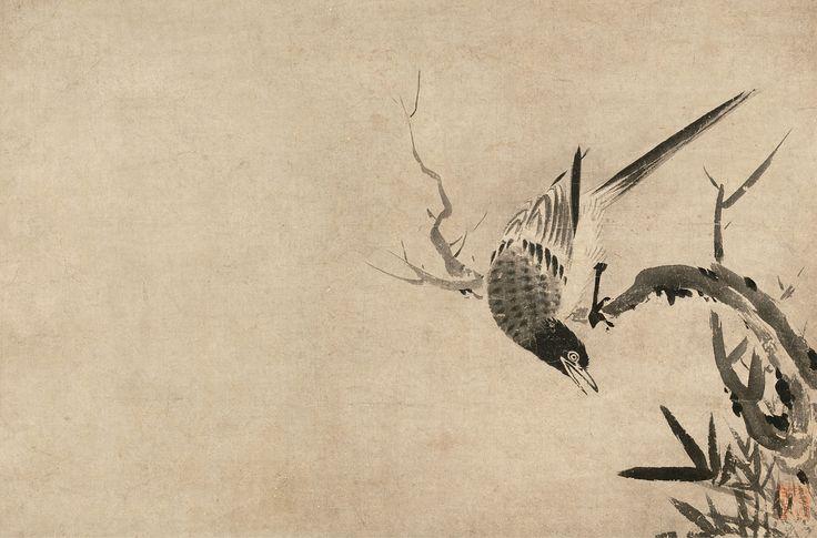 賢江祥啓 Shokei Kenko 日本画, 墨絵, 動物
