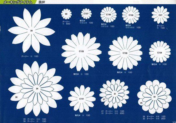 Шаблоны для цветов из фоамирана | 40 фотографий