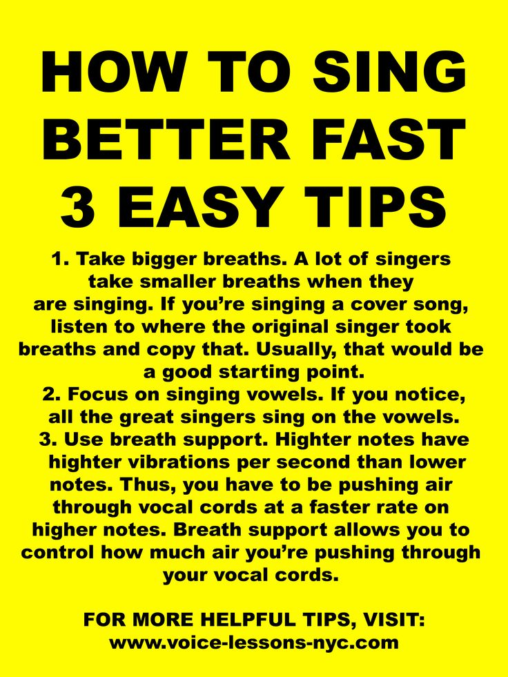 How to sing better fast! These 3 easy singing tips will