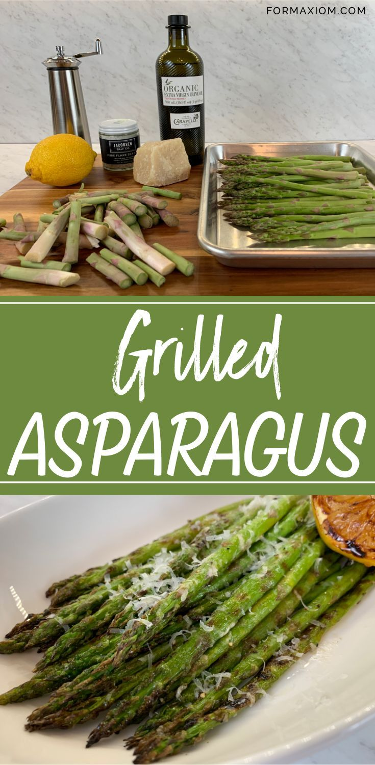 Grilled Asparagus With Lemon And Parmesan Recipe Flavorful Vegetables Grilled Asparagus Healthy Eating Recipes