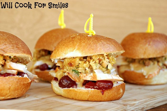 Thanksgiving Leftovers Sliders, Will Cook For Smiles