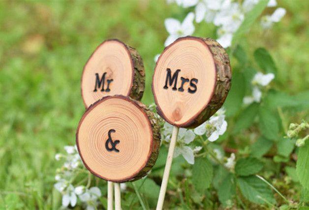 Decoración de boda. Boda rústica / Wedding decorations, rustic wedding chic - hecho a mano en DaWanda.es
