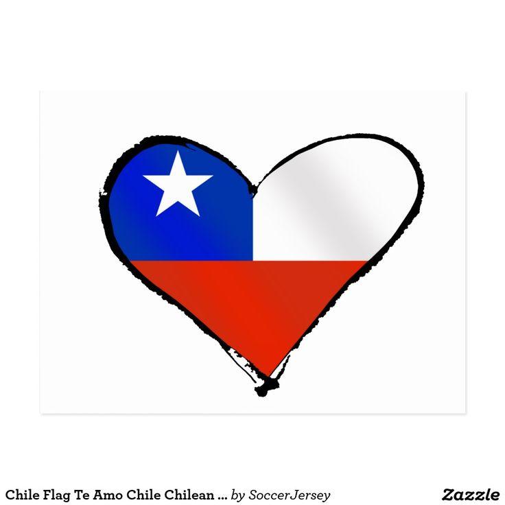 Chilenische Liebe und Stolz Chile-Flagge Te Postkarte | Zazzle