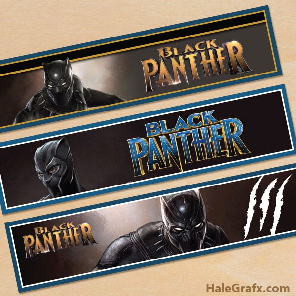 Free Printable Black Panther Water Bottle Labels Black Panther
