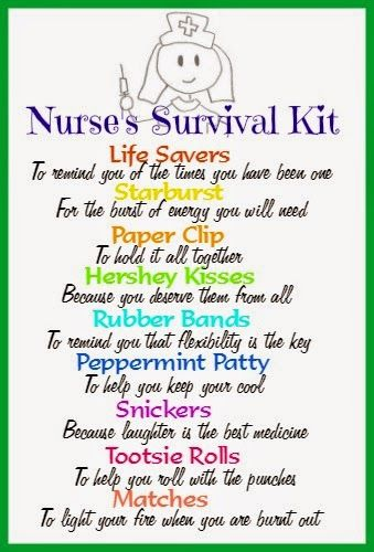 This would be fun to give to the school nurse during Teacher Appreciation/ Staff Appreciation Week.
