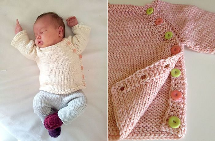 Puerperium Cardigan (Photos: L - Cecie / R - LCline83) As you may have gathered from Mona's post yesterday, she's been on a roll lately with this sweet little pattern for newborns. Puerperium Cardi...