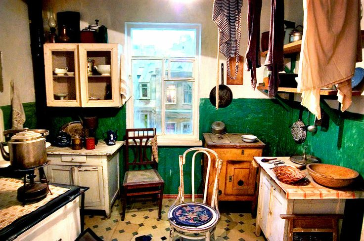 A typical Russian kitchen inside an apartment built during the early 1960s when Nikita Khrushchev led the Soviet Union — what later became k...