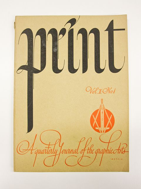 Cover of Print Magazine Vol 2, # 1, 1941 by Herb Lubalin Study Center, via Flickr