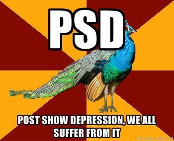 Sometimes. I am still suffering from PSD from HAIR last summer....