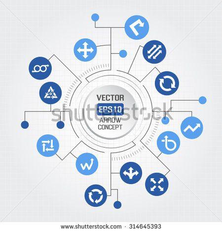 Big circle arrow concept - stock vector