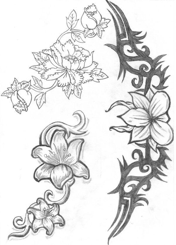 Jasmin Flower tatoo's