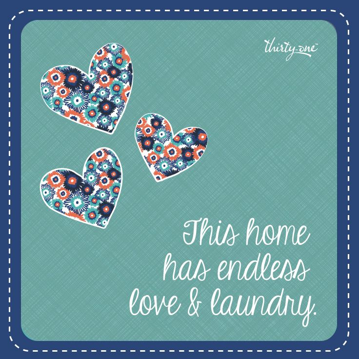 We have solutions for your endless laundry! (Love your laundry room! Thirty-One has so many fun solutions to help you organize your laundry room!)