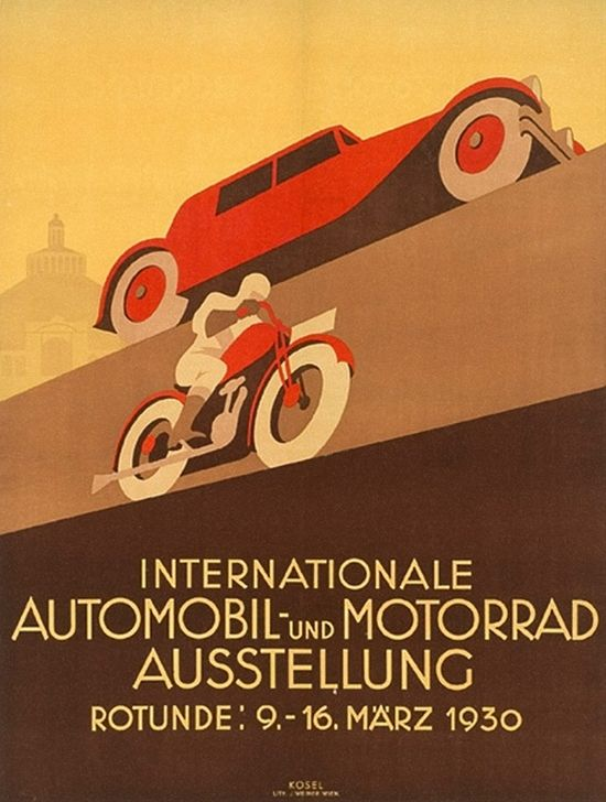 Poster design: Internationale Automobil Und Motorrad Ausstellung