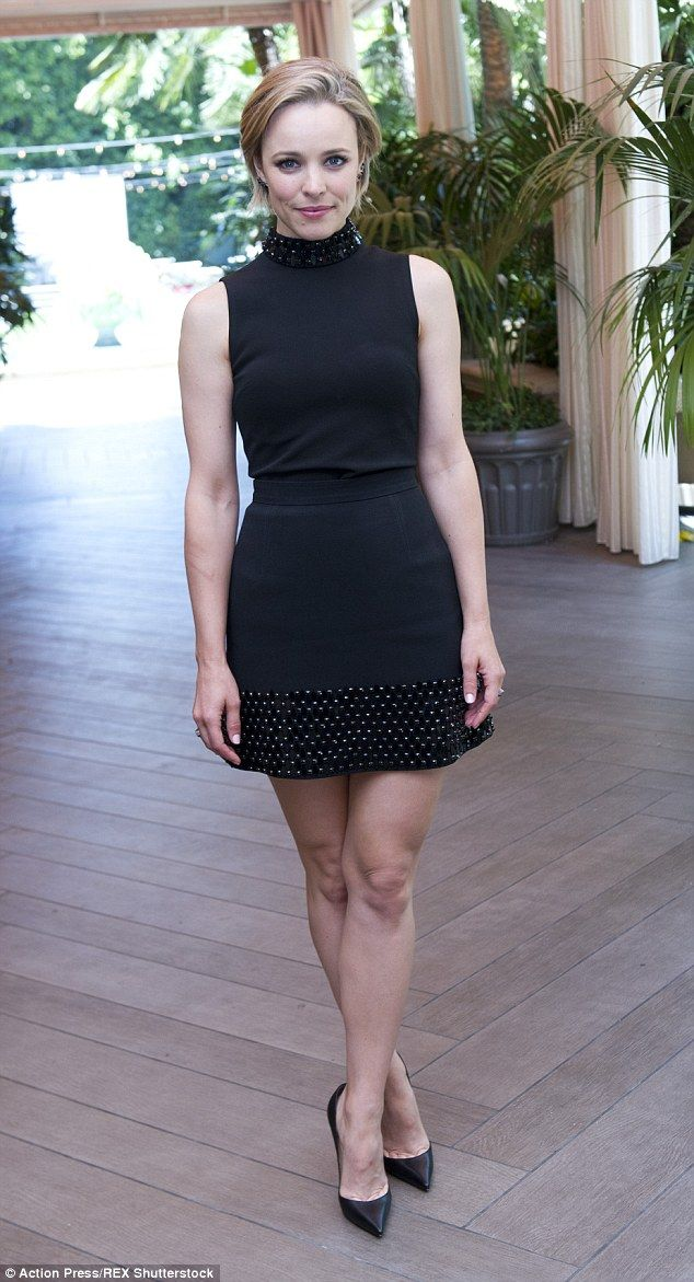 She's a knockout: Rachel McAdams once again showcased her natural beauty as she attended the press conference for her new film, Southpaw, on Tuesday afternoon 14 Jul 2015