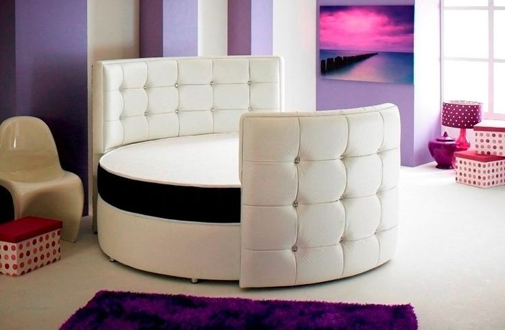 SPHERE ROUND BEDFRAME WITH MEMORY FOAM MATTRESS 6FT6INCH