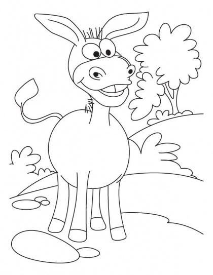 d is for donkey coloring pages - photo #40