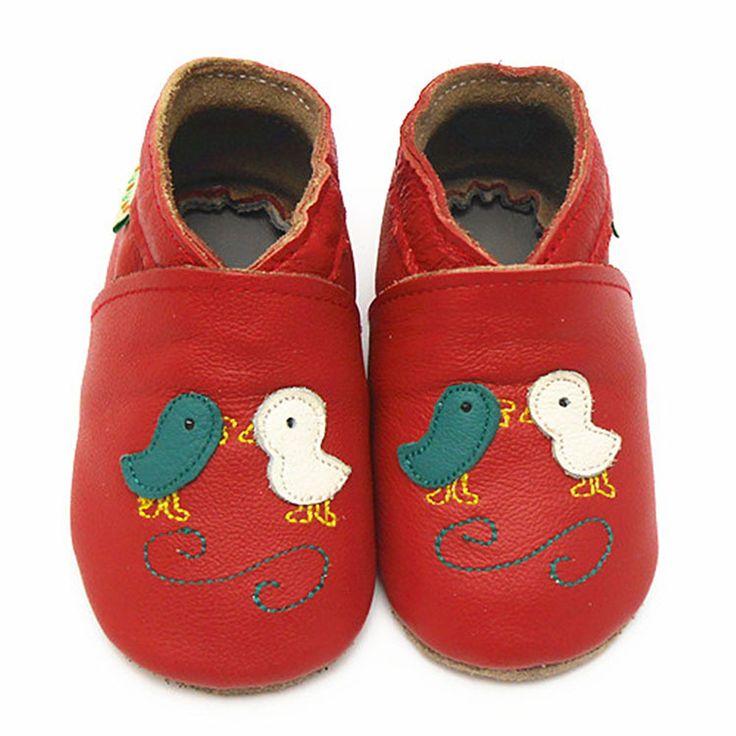 Sayoyo Натуральная Кожа Детские Мокасины Красные Птицы Мягкие Мальчик обувь для Девочек Младенческой Малыша 0-6 6-12 12-18 Месяца Бесплатно доставка