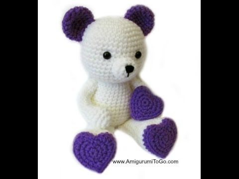 written pattern http://www.amigurumitogo.com/2015/02/Valentine-Teddy-Bear-Pattern-Free.html