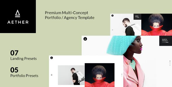AETHER - Minimal & Enjoyable Multi-Concept Portfolio / Agency Template