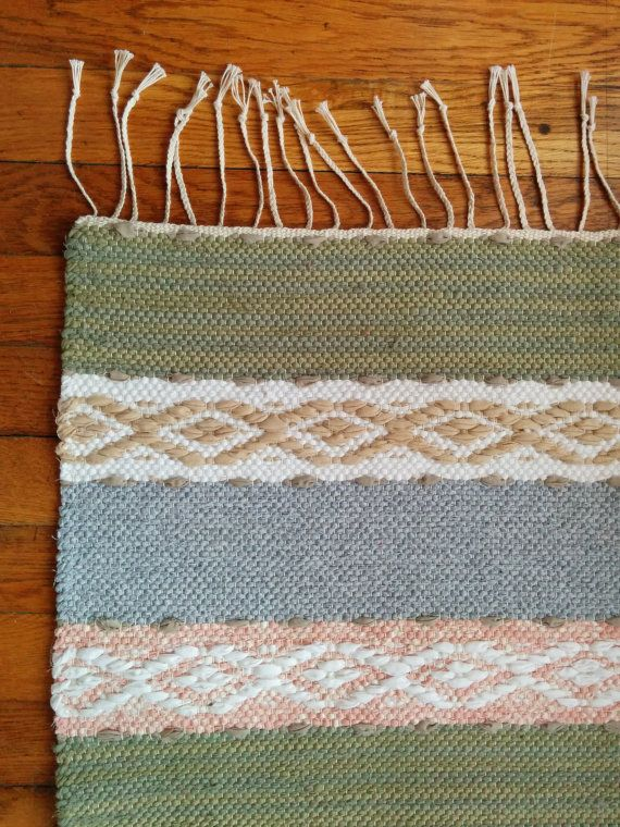 Handwoven Rosepath Rag Rug by SwedeRamble on Etsy