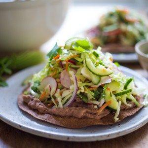 Tlayudas de Oaxaca - Healthy Mexican street food! | www.feastingathome.com