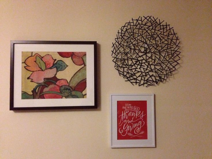 Current art- love circle metal art, other two are ok