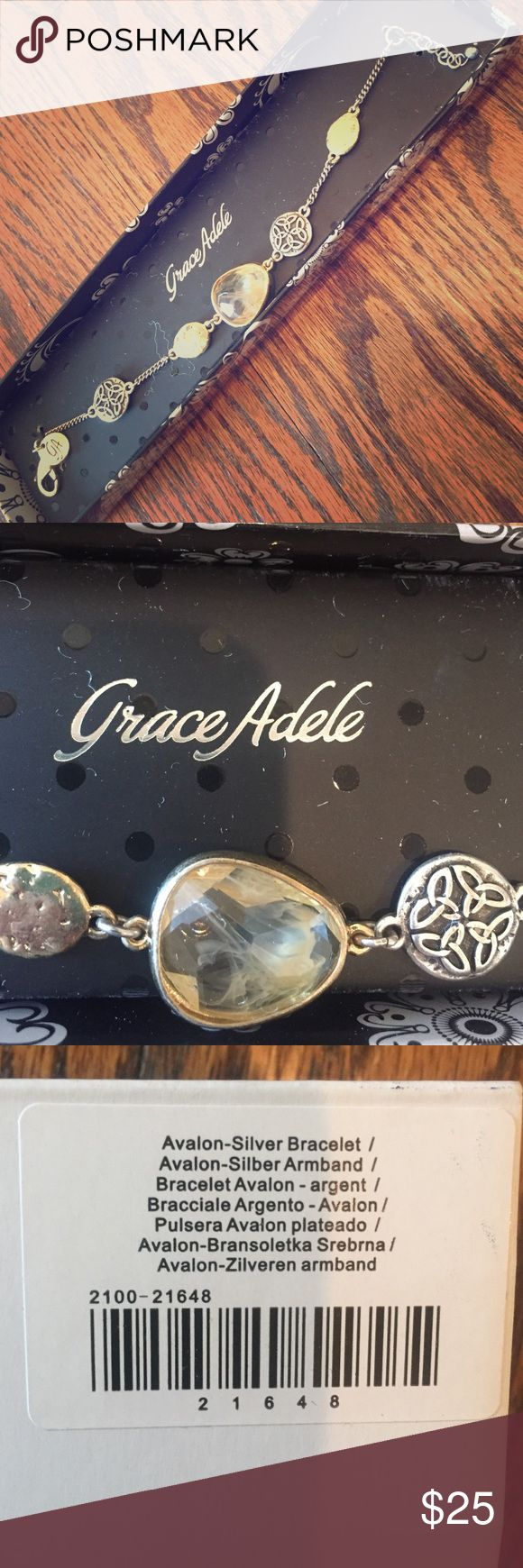 Grace Adele NEW Avalon Silver Bracelet NEW Grace Adele Jewelry Bracelets